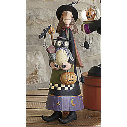 Happy Owloween Witch Figurine