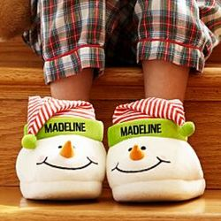 Children's Personalized Snowman Slippers