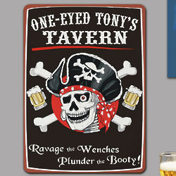 One Eyed Tavern Personalized Wall Sign