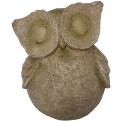 Owl Statue with Stone Moss Finish