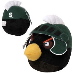 Michigan State Spartans Black Angry Bird Plush