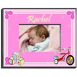 Blocks Personalized Girls Room Frame