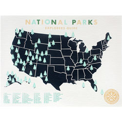 National Parks Sticker Map