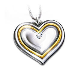 My Daughter, My Joy Diamond Heart Pendant