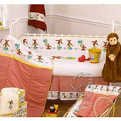 Curious george 6 piece crib set for Curious george bedroom ideas