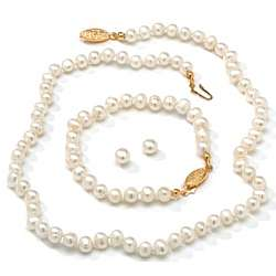 Cultured Pearl Jewelry Set