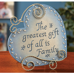 Heart Shaped Family Plaque
