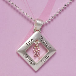 Pink Ribbon Expressions Pendant
