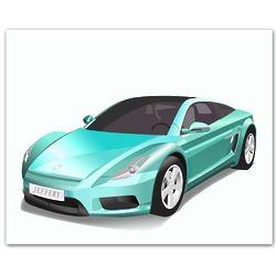 Personalized Concept Car Premium Luster Print