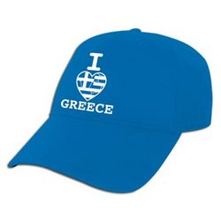 I Heart Greece Cap
