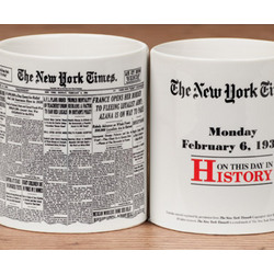 New York Times Newspaper Mug