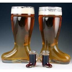 Two Liter Double Beer Boot Set