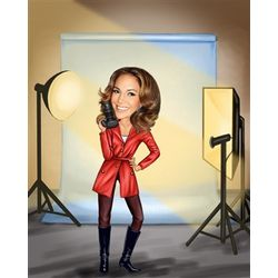 Studio Photographer Caricature Print from Photo