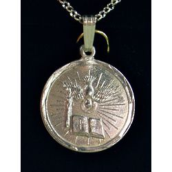 Engravable Sterling Silver Holy Spirit Medal
