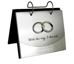 Silver Wedding Band Flip Photo Album