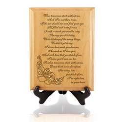 When Tomorrow Starts Wooden Memorial Plaque