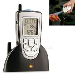 Remote Wireless Meat Thermometer with LED Flashlight