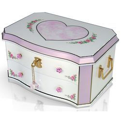 Hearts and Flowers Musical Jewelry Box