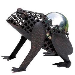 Metal Frog Gazing Ball