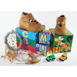 Puppy Slippers and Toys Gift Set