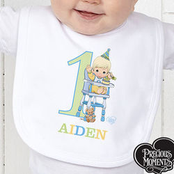 Personalized Baby's First Birthday Bib