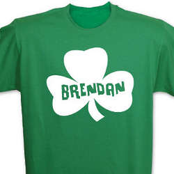 Personalized Shamrock Name Green T-Shirt