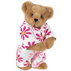 Fuchsia Daisy PJs Teddy Bear