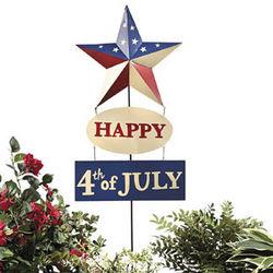 Happy 4th of July Patriotic Yard Stake