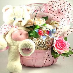 Sweet Celebration New Baby Gift Basket