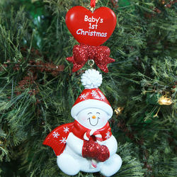 First Christmas Red Snowbaby Ornament