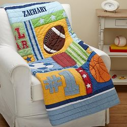 Personalized Baby's Sports or Princess Quilt