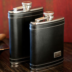 Wall Street Leather Flask
