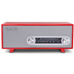 Red Ranchero Tabletop Radio and MP3 Player