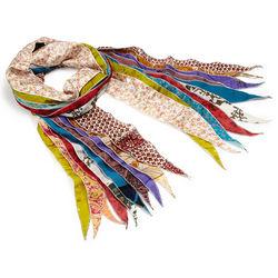 Upcycled Fringe Sari Scarf