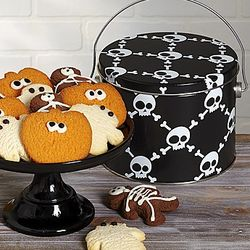 Skulls Butter Cookies Fun Pail