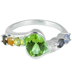 Chakra Allure Multi-Gemstone Cocktail Ring