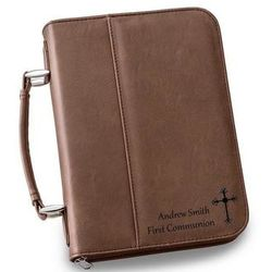 Personalized Small Dark Brown Bible Case