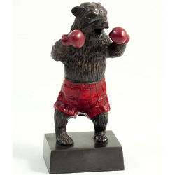 Stock Market Boxing Bear Statue