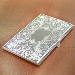 Engravable Ornate Business Card Case