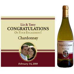 Personalized Engagement Wine Bottle Label