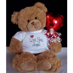 Love You Personalized T-Shirt Teddy Bear