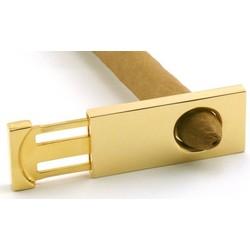 Engraved Gold Plated Rectangular Cigar Cutter