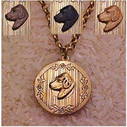 Labrador or Golden Retriever Locket Necklace