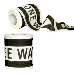 """One Way"" Toilet Paper"
