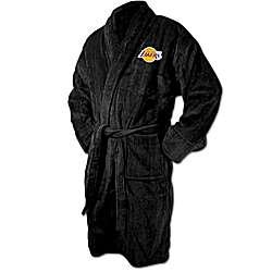 Los Angeles Lakers Terrycloth Logo Bathrobe in Black