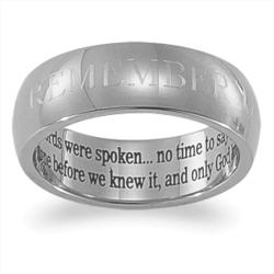 Stainless Steel Memorial Message Band