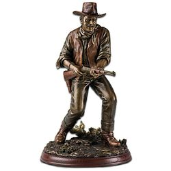 John Wayne Lawman Bronze-Toned Sculpture