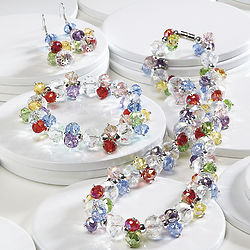 Multicolor Crystal Jewelry Set