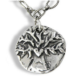 Walk Boldly Grow Wise Tree Sterling Silver Necklace