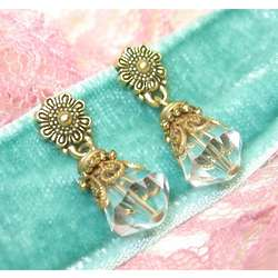 Clear Crystalline Petite Drop Earrings